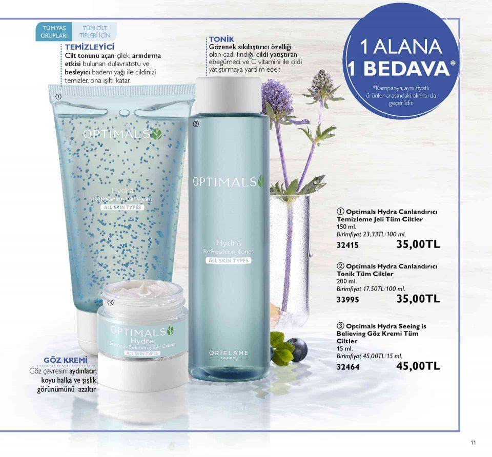 oriflame ekim katalog kampanya optimals