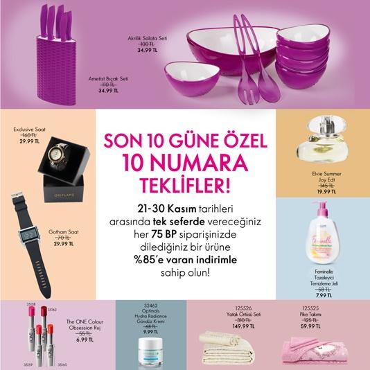 oriflame kasım katalog kampanyası 2018