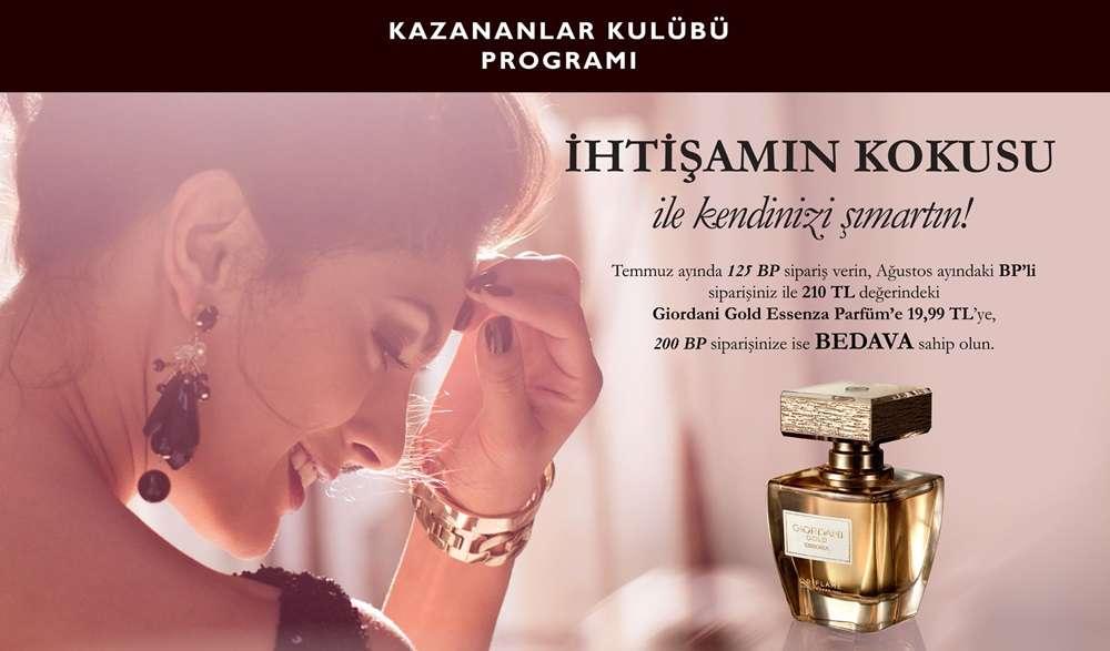 güzel kadın parfüm oriflame temmuz kazananlar kulübü kampanyası kapak