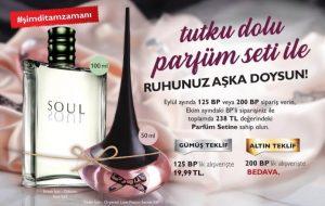 oriflame eylül kazananlar kulübü programı kadın erkek parfüm seti